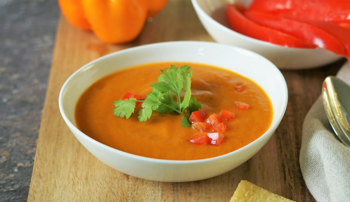 Geröstete Gemüsesuppe
